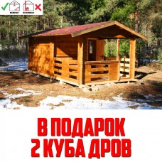 Баня Комфортпром 16.5 м2 с террасой