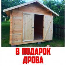 Сарай деревянный «КомфортПром» 2,5x2,5 метра
