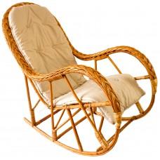 Кресло-качалка из натуральной лозы КК 4/3 с подушкой