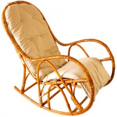 Кресло-качалка из натуральной лозы КК 4 с подушкой
