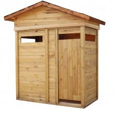 Летний душ деревянный с тамбуром