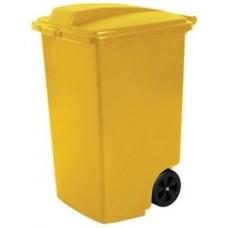 Контейнер для мусора на колёсах 100л REFUSE BIN желтый