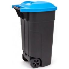 Контейнер для мусора на колёсах 110л REFUSE BIN черный/синий