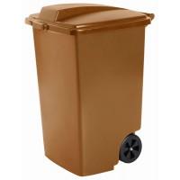 Контейнер для мусора на колёсах 100л REFUSE BIN бронза
