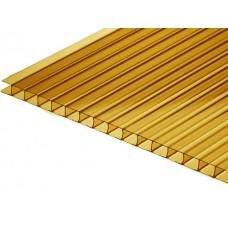 Сотовый поликарбонат бронзовый толщиной 6 мм (2,1 x 6 м)