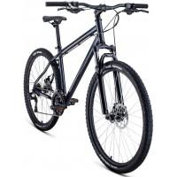 Велосипед Forward Sporting 29 2.0 disc р.21 2021 (черный матовый)