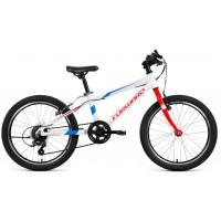 Детский велосипед Forward Rise 20 2.0 2021 белый/красный
