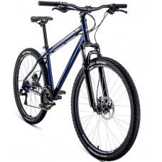 Велосипед Forward Sporting 27.5 3.0 disc р.17, (темно-синий/серый)