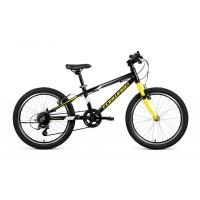 Детский велосипед Forward Rise 20 2.0 2021 черный/желтый
