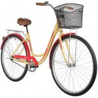 Велосипед Foxx Vintage 28» (2021) с корзиной бежевый
