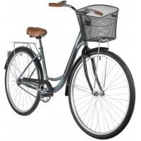 Велосипед Foxx Vintage 28» (2021) с корзиной серый