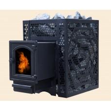 Печь банная ComfortProm ЧУГУН СТАНДАРТ, для парной до 20 кубов, вес 70 кг, длина дров до 40 см, на 130 кг камней, дверь со стеклом