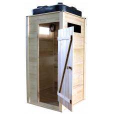Летний душ деревянный «ComfortProm» с баком 110 л без подогрева
