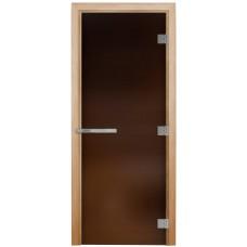 Дверь «ЭТАЛОН» БРОНЗА МАТОВОЕ, 700х1900, 10 мм, коробка ОСИНА