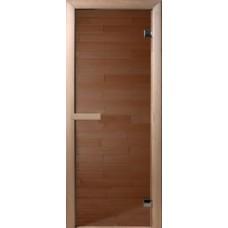Дверь DOORWOOD БРОНЗА 700х1900,  6 мм, коробка ОСИНА