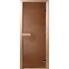 Дверь DOORWOOD БРОНЗА МАТОВАЯ 700х1900,  6 мм, коробка ОСИНА