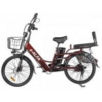 Электровелосипед GREEN CITY e-ALFA LUX коричневый