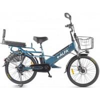 Электровелосипед GREEN CITY e-ALFA GL сине-серый матовый