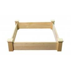 Грядка деревянная приподнятая ComfortProm H25 x 104 x 104 cm