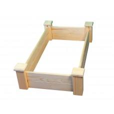 Грядка деревянная приподнятая ComfortProm H25 x 104 x 62 cm