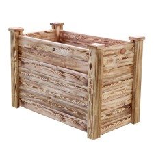 Клумба деревянная приподнятая с обжигом ComfortProm H77 x 110 x 62 cm