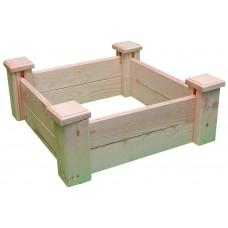 Грядка деревянная приподнятая ComfortProm H25 x 62 x 62 cm
