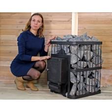 Печь банная ComfortProm ЧУГУН БЕЗ ВЫНОСА, для парной до 20 кубов, вес 68 кг, длина дров до 40 см, на 130 кг камней, чугунная дверь