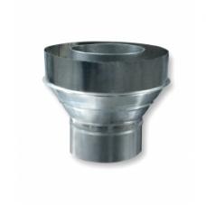 Переходник с одностенной трубы на двухстенную (430) ф150/220