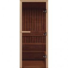 Дверь 800х1800, Везувий, Бронза, прозрачная