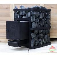 Печь банная ComfortProm ЧУГУН ПРЕМИУМ, для парной до 26 кубов, вес 105 кг, длина дров до 45 см, на 160 кг камней, чугунная дверь