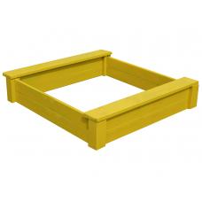 Песочница из дерева ComfortProm желтая