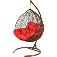 Кресло подвесное двойное BiGarden Gemini Brown (красная подушка)