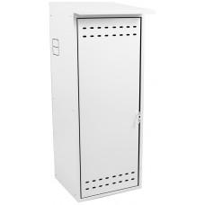 Шкаф ComfortProm для газового баллона оцинкованный белый