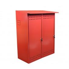 Шкаф ComfortProm для двух газовых баллонов оцинкованный красный