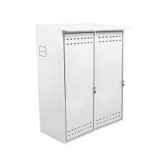 Шкаф ComfortProm для двух газовых баллонов оцинкованный белый