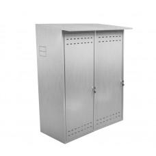 Шкаф ComfortProm для двух газовых баллонов оцинкованный