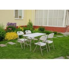 Комплект складной мебели (прямоугольный стол + 2 стула)