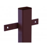 Столб заборный 60х40 2м коричневый