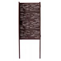 Калитка Модерн 1530х1000 коричневая + 2 столба