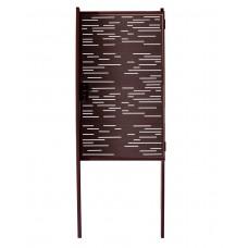 Калитка Модерн 1030х1000 коричневая + 2 столба